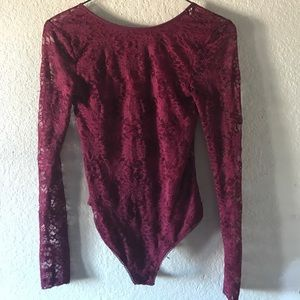 UO Floral Lace Backless Leotard/Bodysuit Open Back