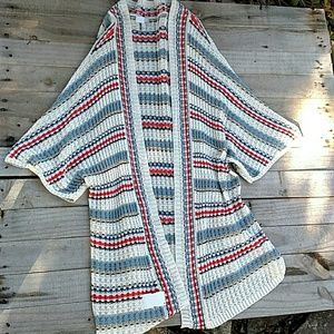 14th and Union loose knit open cardigan