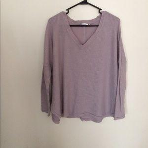 Lavender Waffle Long-Sleeved Shirt