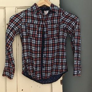 Other - Girls size 10 flannel button up shirt