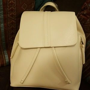 Zara cream colored backpack