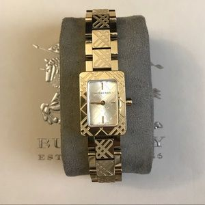 Burberry gold watch BU1171
