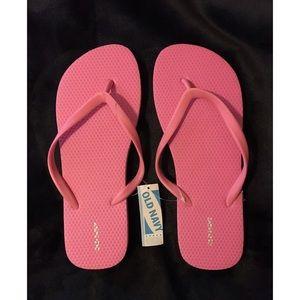 Brand new old navy pink flip flops