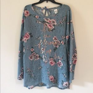 Disney collection by LC flowered light sweater