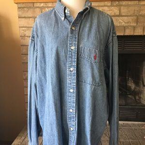 """Ralph Lauren Jean Denim Shirt """"The Big Shirt"""""""