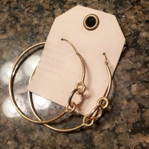 Anthropologie gold & silver hoops!