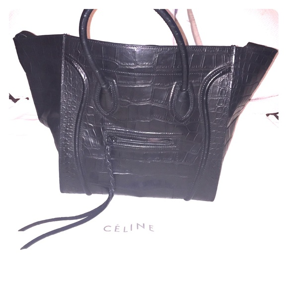 Celine Handbags - Celine Croc Phantom - Large