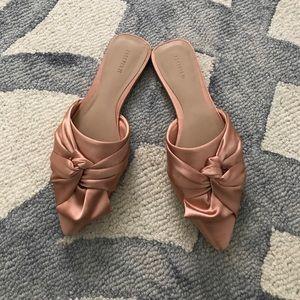 Silk pink Mule Slides