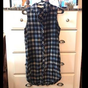 Sleeveless Flannel Dress