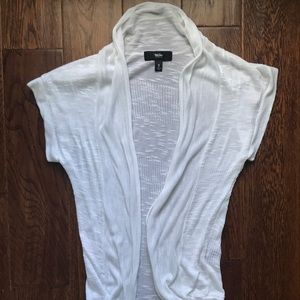 White Shirt Sleeve Cardigan