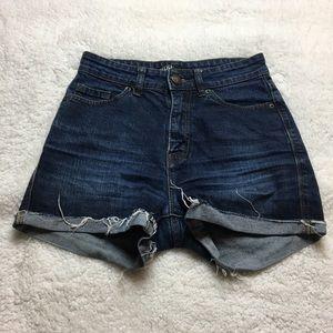 BDG high rise rolled bottom shorts