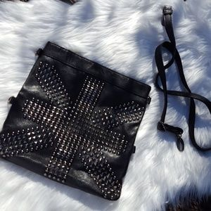 Faux leather convertible clutch