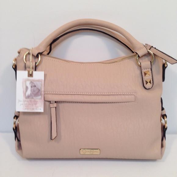 Jessica Simpson Ryanne Blush Pink Handbag Shoulder b72ed7f93b2ca