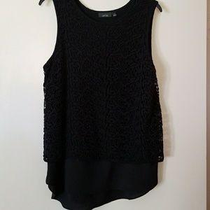 Stylish black crochet top