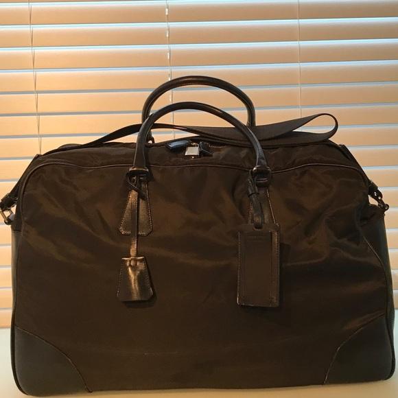 cab1459b99e8 Prada Nylon Weekender duffle bag. Listing Price: $300.00