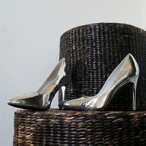 Anne Michelle silver heels