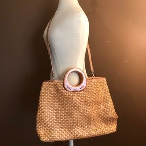 Fossil woven Tote