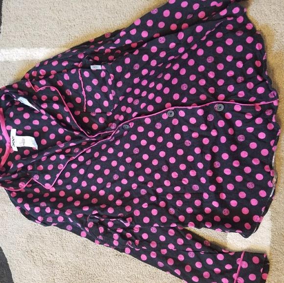 e173833185 Dkny Intimates & Sleepwear | Pink Black Polka Dot Pajama Outfit ...