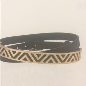 Stella & Dot Black Black Wrap Bracelet