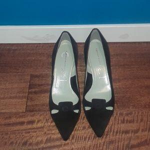 Sigerson Morrison Black Suede Kitten Heels