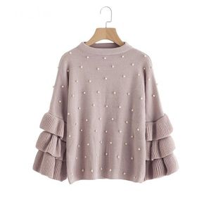 Sweaters - JUST IN! Soft rose colored sweater w/ pearl beads