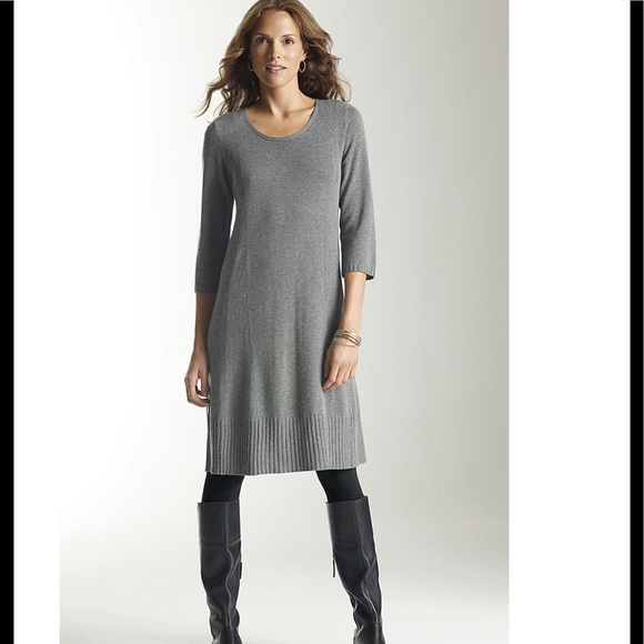 bc6ea50239 NWT J. Jill Grey Sweater Dress Midi Length XS