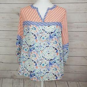 Mosaic print blouse