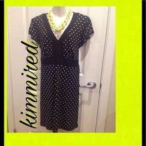Lane Bryant Split Sleeve Polka Dot Dress ~ 18/20 ~