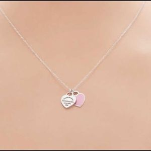Authentic Tiffany & Co Double Heart Necklace