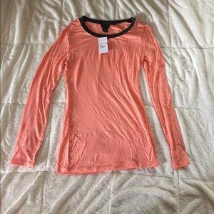 Coral long sleeve shirt