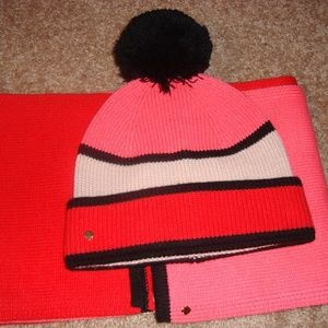 KATE SPADE long Scarf and Hat Set (2) pieces