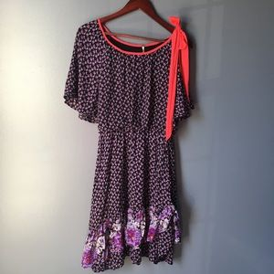 Free People ruffle asymmetrical dress small
