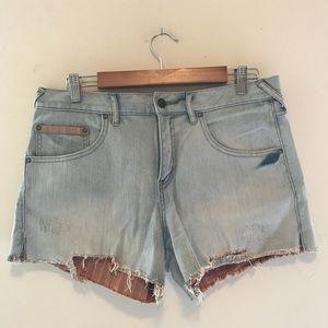 Free People Denim Cut Off Shorts