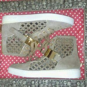 Michael Kors high top sneakers size 9