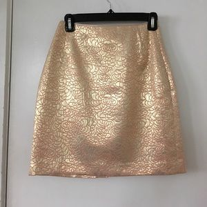 Pink & gold pencil skirt