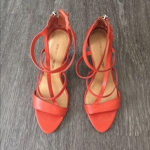 Rebecca Minkoff Orange Heels 8 Damaged