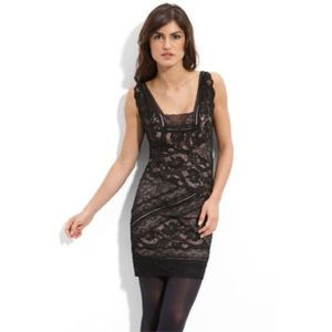 Nicole Miller Black Lace Sheath Dress