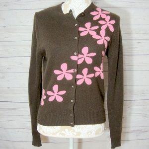 J Crew Cardigan Sweater Wool Cashmere Angora