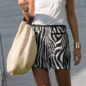 H&M Blk & Wht Zebra Print Mini Skirt NWT