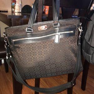 Authentic brown Coach messenger bag.