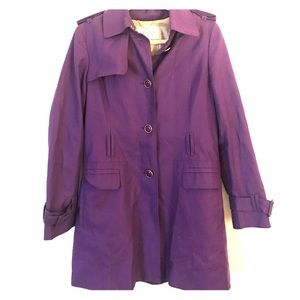 Purple & Gold Accented Banana Republic Trench Coat