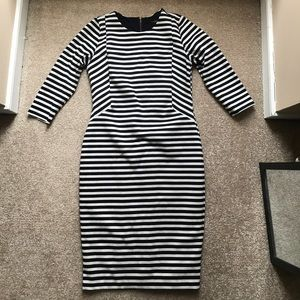The limited navy striped dress