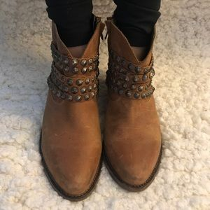 Steven by Steve Madden distressed leather booties