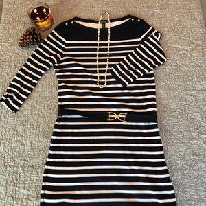Ralph Lauren navy and white stripe nautical dress