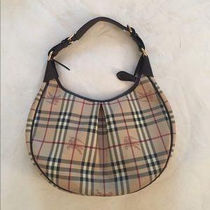 Burberry Khaki Nova Check & Leather Shoulder Bag