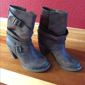 Jeffrey Campbell Brown Boots with Buckles