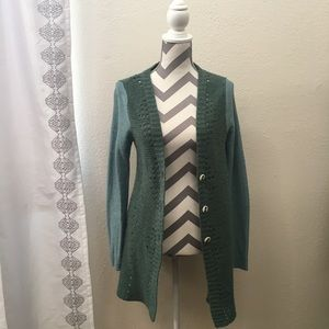Free People Green Cardigan