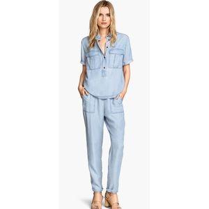 H&M denim pants and top set