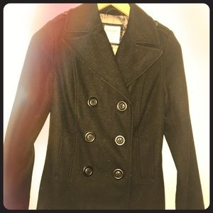 Black, Barely Worn, Double Breasted Pea Coat