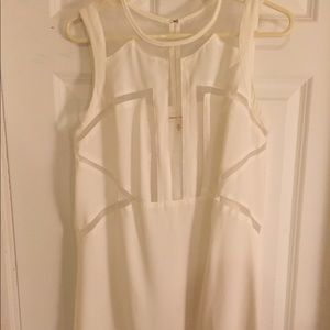 Urban Outfitters Sheer Cutout White Mini Dress